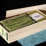 桐箱入宇治抹茶蕎麦と長谷部の薬味のギフトセット